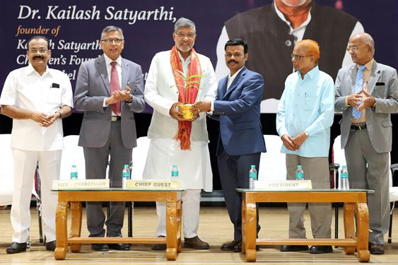 Dr. Kailash Satyarthi Visit to SRM Institute of Science and Technology In Kattankulathur