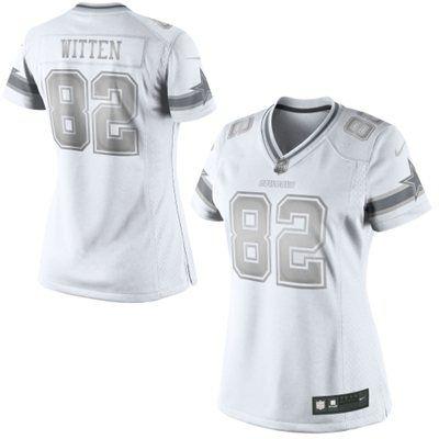 NFL Jerseys Cheap - Jason Witten Dallas Cowboys Nike Women's Platinum Jersey �C White ...