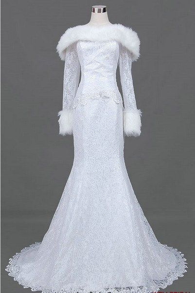 Trumpet mermaid long sleeve court train satin lace for Trumpet mermaid wedding dress with sleeves