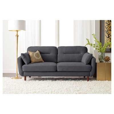Sierra 73 Sofa Slate Gray Serta With Images Love Seat Slate Sofa Mid Century Modern Loveseat