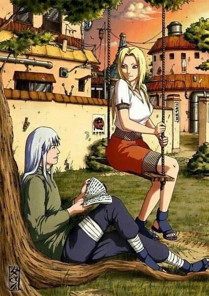 Senju Tsunade and her former lover, Dan.