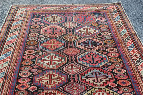Antique early 1900s Caucasian Shirvan rug 4'3'' x 8'0'' by RugDude, $2600.00