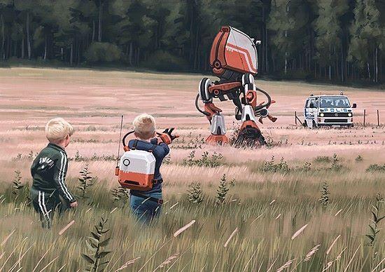 + Ilustração :   Trabalho de Simon Stålenhag.