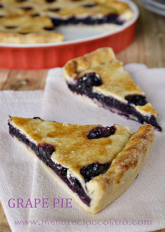 Menta e Cioccolato: GRAPE PIE, la Crostata con Uva Fragola #cake #pie