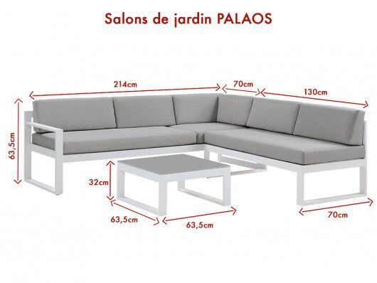 Conjunto Jardin Mesa De Centro Y Sofa Rinconero Gris Palaos