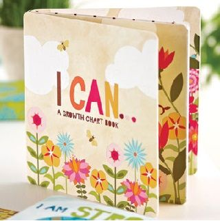 """I Can - Growth Chart Book """"I can learn something new...I can explore my world...I can grow to the sky. #Christmas"""