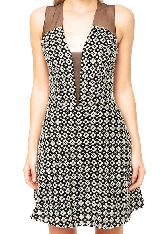 Vestido Curto Colcci Costura Preto - Marca Colcci