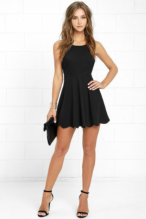 Play On Curves Black Backless Dress - Girls- Curves and Ties