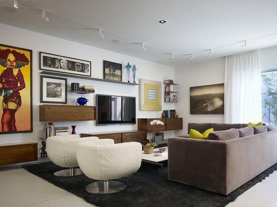 wohnzimmer schöne einrichtungsideen fernseher bilder - wohnideen