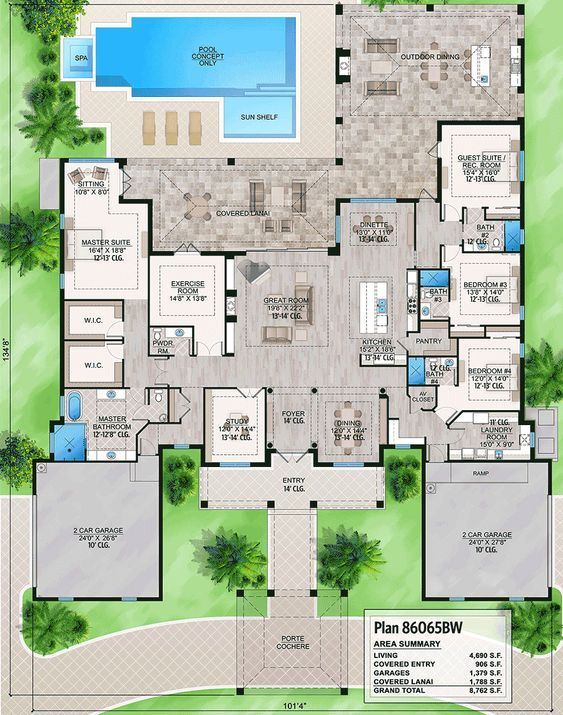 Plan 86065bw Luxurious Florida House Plan Florida House Plans How To Plan Dream House Plans