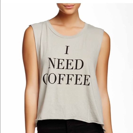 NWT Wildfox brand new I need coffee Beautiful brand new still in packaging top by Wildfox. On sale now over half off the original price! Perfect for winter fun goes with everything:) super soft and its great fit makes this a cool addition to your wardrobe!! Wildfox Tops Crop Tops