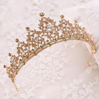 Bridal Tiara Wedding Headpiece for Bride Pearl Crown Rhinestone Silver Headband  Wedding Diadem Crystal Jewelry Girl Bridal hair accessories