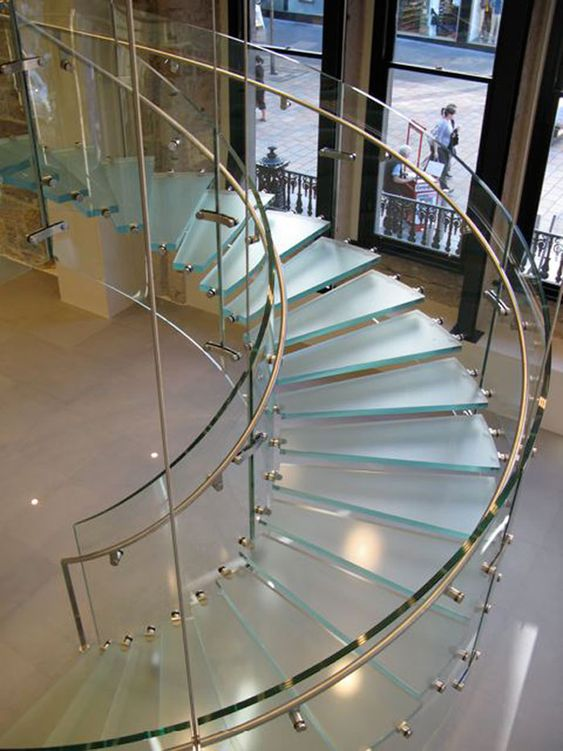 The spiral glass staircase used in Glasgow is a near twin of the one in Osaka