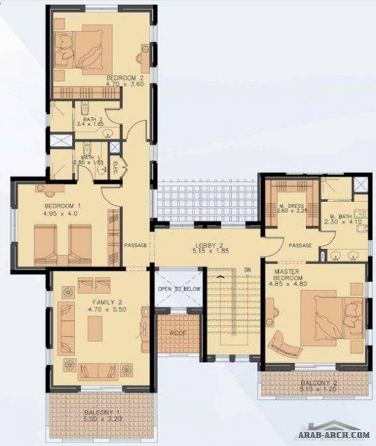 نموذج فيلا Type M 14 نماذج المساكن فى مؤسسه محمد بن راشد للاسكان Square House Plans Floor Plan Design Architectural House Plans