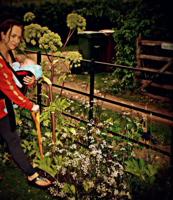 Me n Elliot gardening