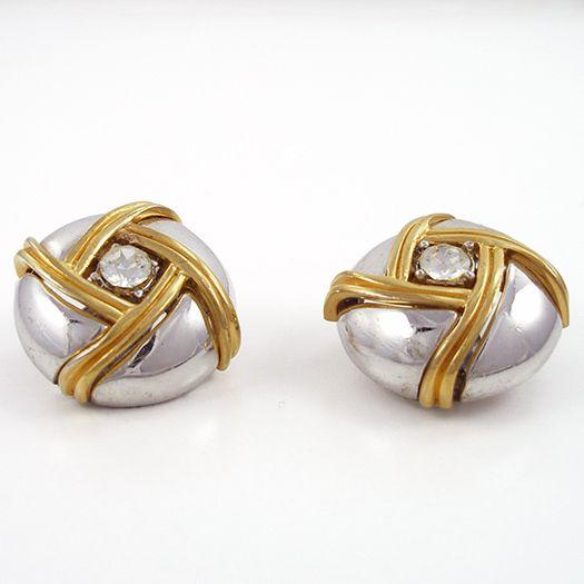 Vintage Ciner Domed Clip Earrings