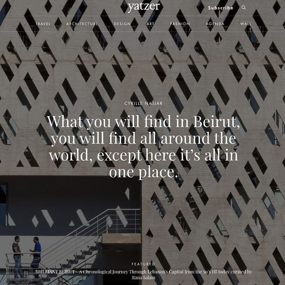 """#Yatzerquoteoftheday ""What you will find in Beirut, you will find all around the world, except here it's all in one place."" #CyrilleNajjar /…"""