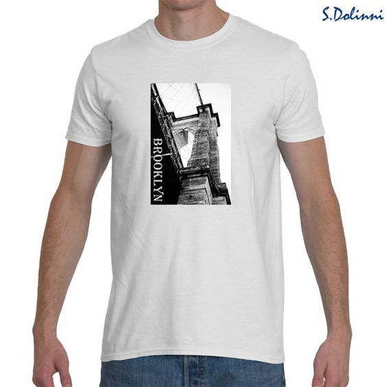 T-shirt Brooklyn Bridge 5 colors. by Exclusive21 on Etsy