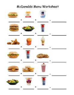 math worksheet : empowered by them fast food worksheet 1  teach high school life  : Real World Math Worksheets