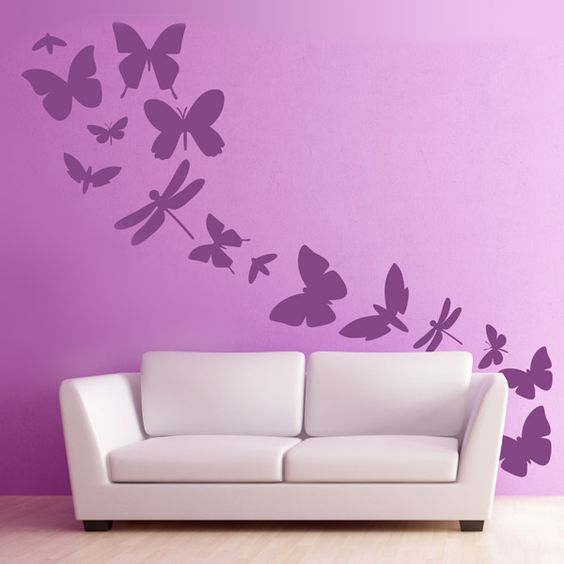 Decora tu casa con este vinilo decorativo son diecisiete for Vinilos mariposas