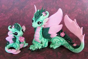 Flower Dragons 2 by *DragonsAndBeasties on deviantART