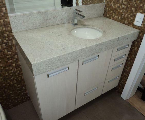 Banheiro granito Branco Itaunas