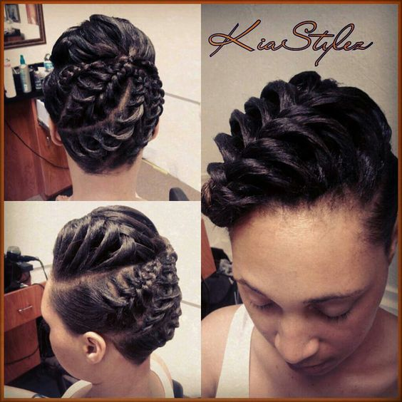 I love the back, but don't care for how the front looks. Inside cornrow on pressed hair II: