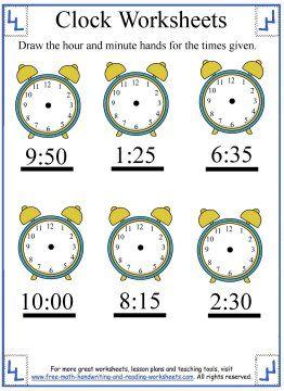 Time Worksheets time worksheets to the nearest 15 minutes : Draw The Hands To The Nearest Five Minutes Worksheet 2 | şşş saat ...