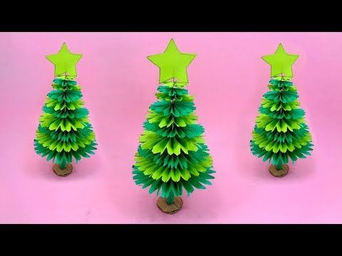 Paper Christmas Tree Making With Green Color Paper Diy Christmas Craft Youtube Diy Paper Christmas Tree Paper Christmas Tree Easter Crafts Diy