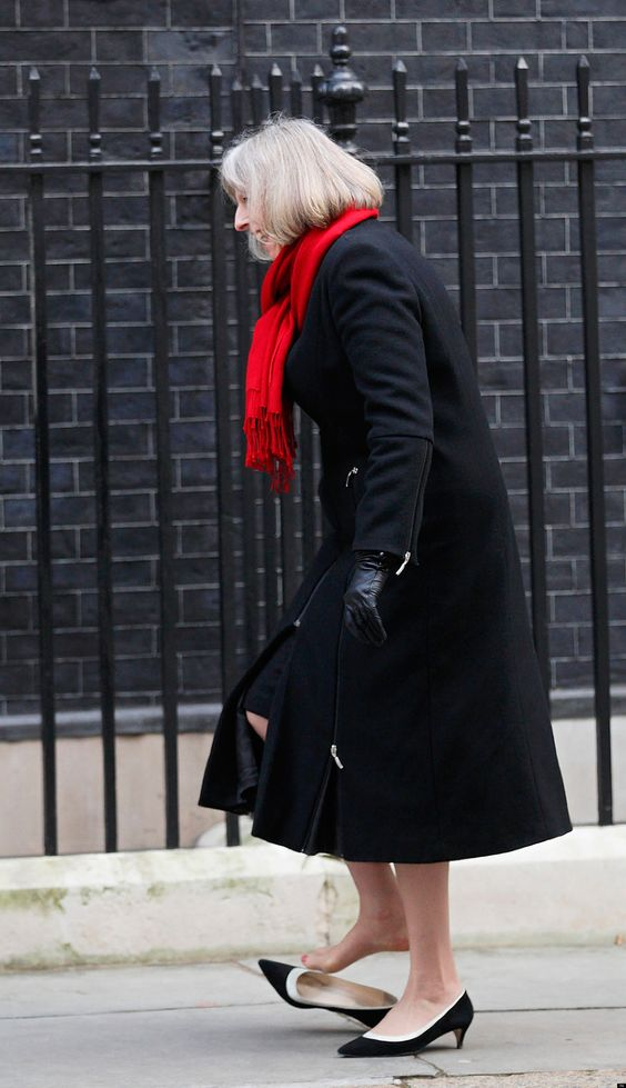 Theresa May's Shoe Gets Stuck