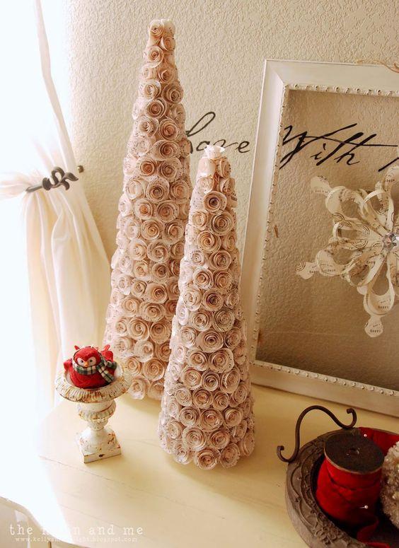 fiori di carta di Natale