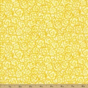 Dragonflies Cotton Fabric - Yellow Floral - CLEARANCE
