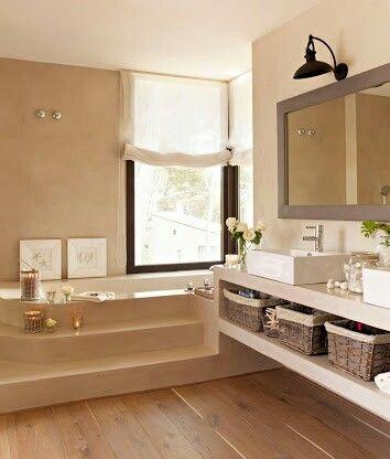 Baño con tina Baños Pinterest