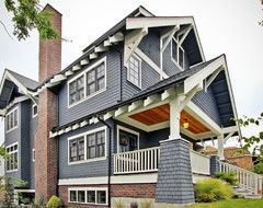 Greenlake Craftsman craftsman exterior paint color with brick