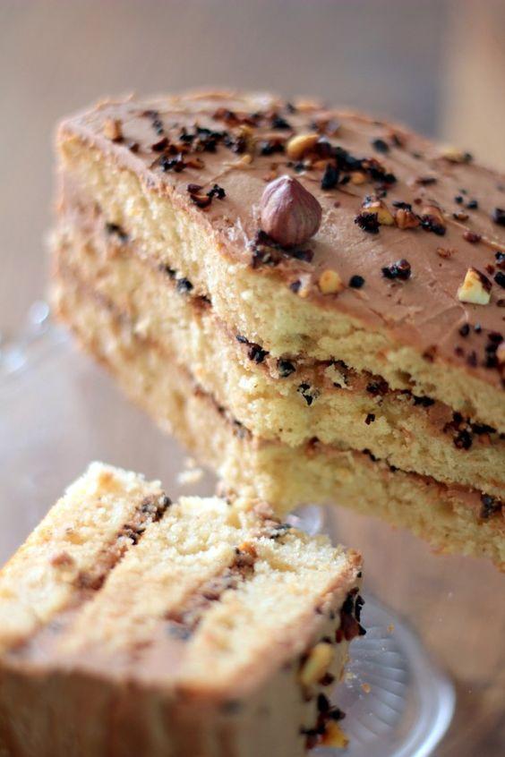 Layer cake crousti fondant au pralin food dessert for Allez cuisine translation