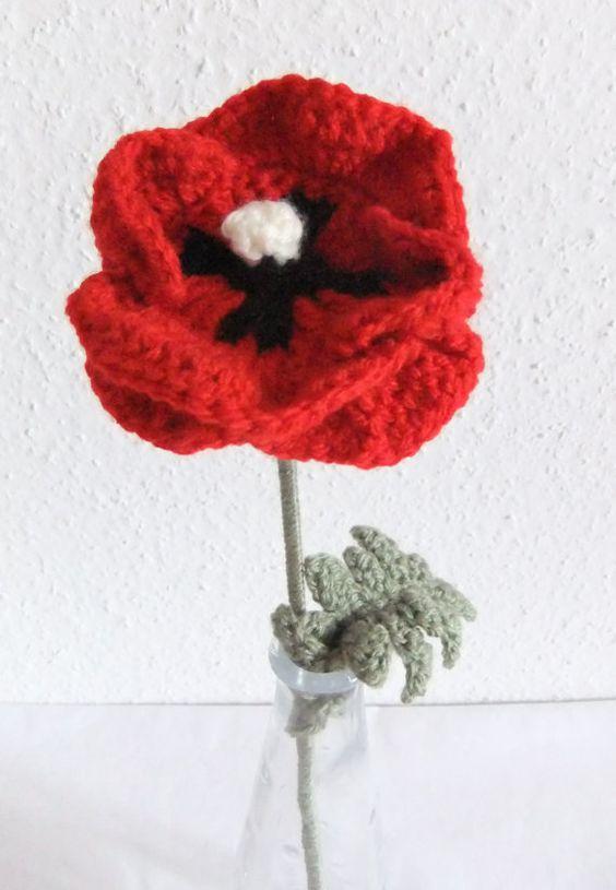 Crochet Poppies Poppies Pinterest Bloem Patronen En