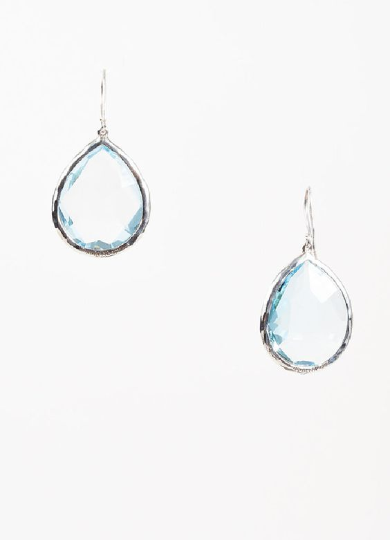 "Ippolita Sterling Silver and Topaz ""Rock Candy Large Teardrop"" Earrings"