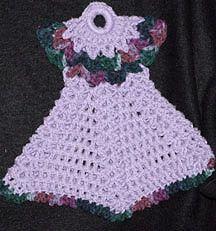 Best ideas about Crochet Dress Dishcloth, Dress Potholder ...