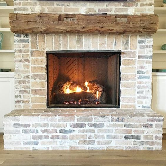 Wood Stove Fire Bricks 4 9 : Bricks fireplaces and mantles on pinterest