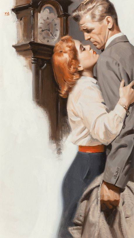 TOM LOVELL The Quiet Wife Oil on Board 18.5″ x 11″