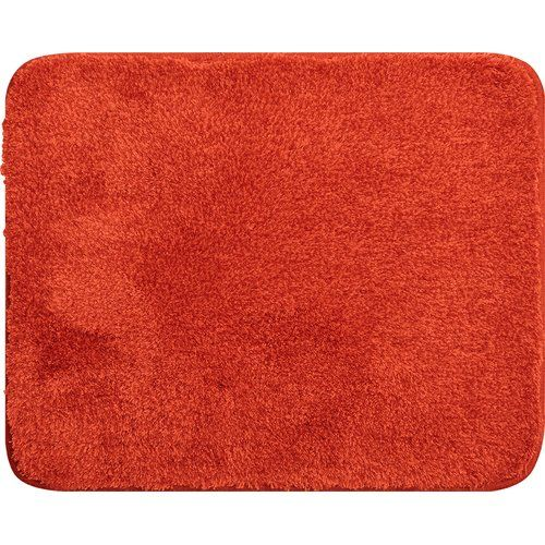 Lex Pedestal Mat Grund Colour Orange Pedestal Mats L Shaped Bath