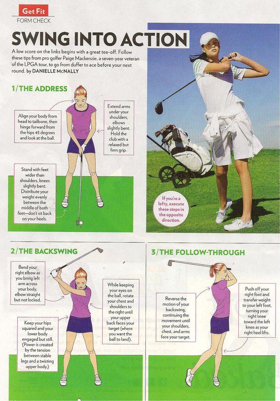 Tips from golf pro Paige Mackenzie of the LPGA from Shape magazine www.shape.com