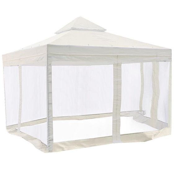 Yescom 10 X 10 Ivory Canopy Replacement Top With Net 1000 In 2020 Gazebo Canopy Gazebo Replacement Canopy Patio Canopy