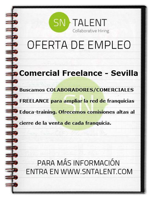 #Empleo Comercial #Freelance en #Sevilla