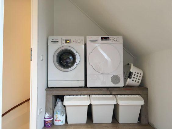 Onze mooie wasmachine en droger verhoging met Ikea ...