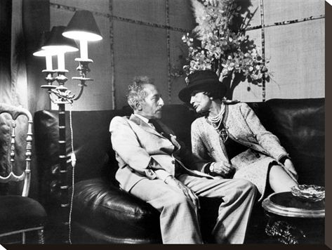 "Jean Cocteau and Coco Chanel Photographic Print 24""x18"" stretched on canvas $99.99"