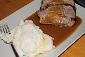Soulfood LowCarberia: Sonntagsbraten: Schweinenacken mit Blumenkohlpüree