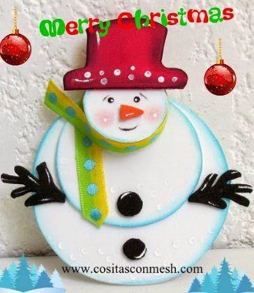 Manualidades navideñas con muñecos de nieve