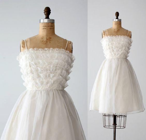 Vintage 60s Saks Fifth Avenue White Wedding Dress By 86Vintage86