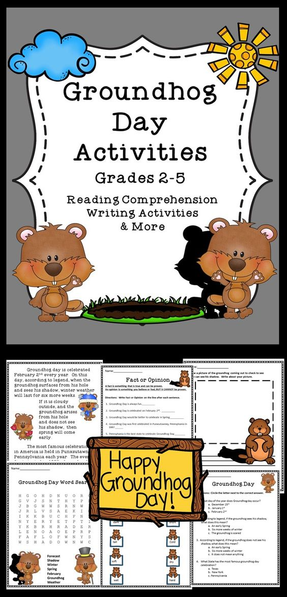 Groundhog Day Printable Worksheets